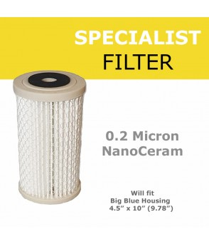 "0.2 micron NanoCeram Pleated Cartridge 4.5"" x 10""  Standard Water FiltersP4.5-10"