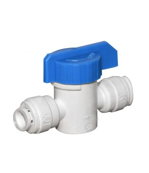 1/4 Inch Push Fit x 1/4 Inch Push Fit Shut Off Valve AccessoriesHBQA-025A