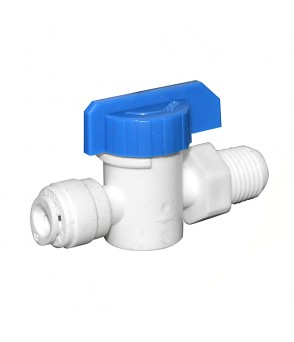 1/4 Inch Push Fit x 1/4 Inch NPT thread Shut Off Valve  AccessoriesHBQA-SOV
