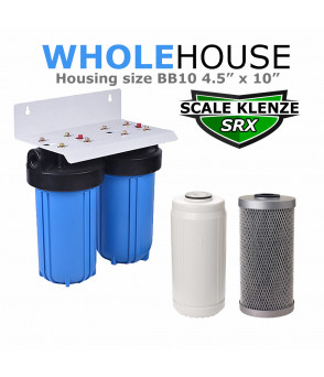 Whole House Double Water Filter & Limescale Remover BB10  Salt Free Lime Scale protection Systems SRX-CB5S-BB10 Direct Water Filters