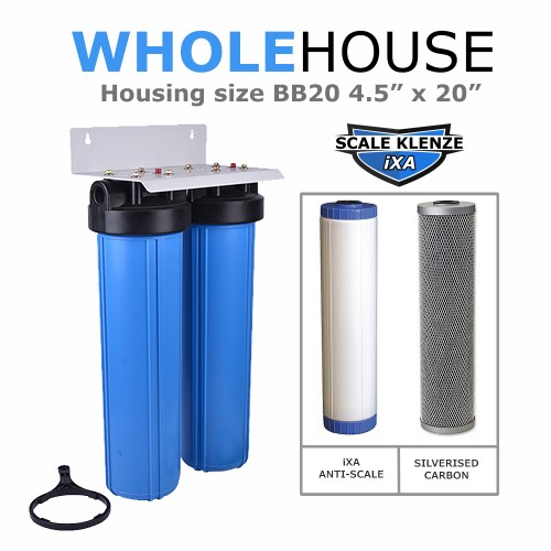 IXA Anti Lime Scale  & Carbon  filter Double Whole House System BB20