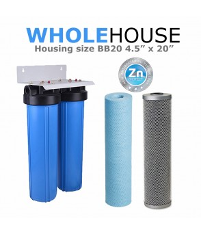 Double Whole House Water Filtration System  Whole HouseBB10-SED-CB5S-KIT