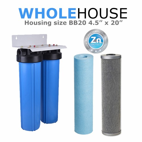 Double Whole House Water Filtration System  BB20