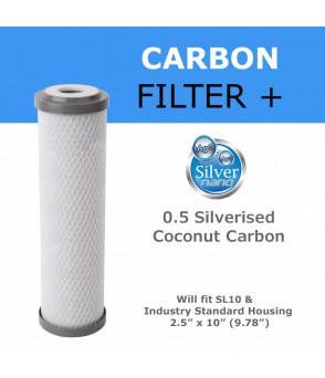 0.5 Micron Silverised Coconut Shell Carbon Block Cartridge for Bacteria & Cyst Reduction Drop-In Water Filters SCCB0.5 Direct Water Filters