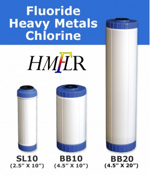 Fluoride, Arsenic & Heavy metals, chloramine Removal Water Filter