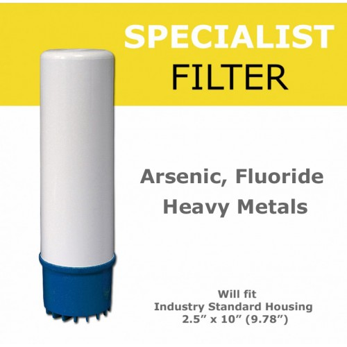 Fluoride, Arsenic and Heavy metals Removal  Filter Cartridge