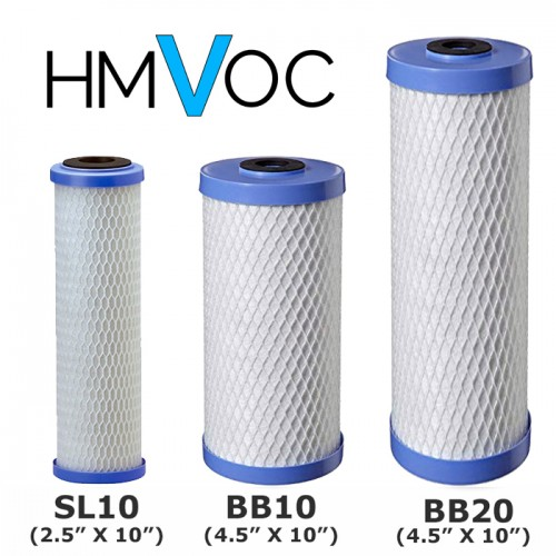 HMVOC 0.5 Micron Coconut Shell Carbon Block for Chlorine, Lead, VOC, Arsenic & Cyst Reduction