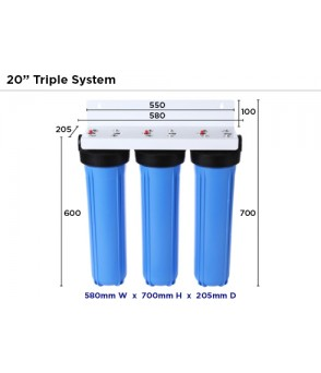 BB20 4.5 x 20 Inch Triple Water Filter Housing Filter HousingBB20-TDirect Water Filters