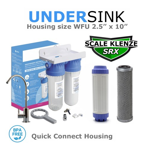 Limescale & Chlorine Removal Double Deluxe Water Filtration System