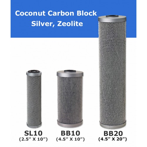 Coconut Carbon Block with Silver Water Filter Cartridge